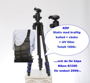 Nikon Paket kit väska stativ